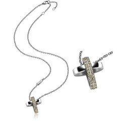 Collar Breil Mujer Charming Cross TJ1461