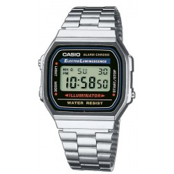 Reloj Unisex Casio Collection A168WA-1YES Multifunción Digital
