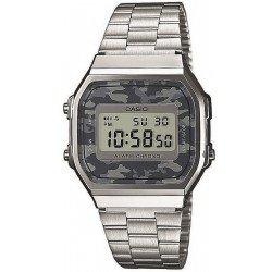 Reloj Unisex Casio Collection A168WEC-1EF Camuflaje Multifunción Digital