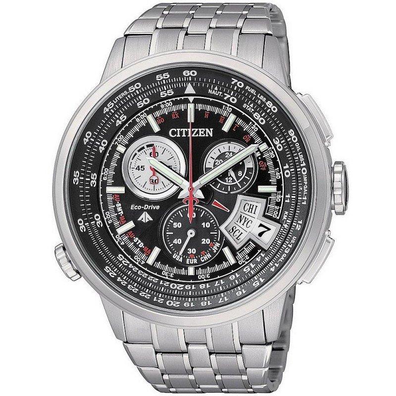 3e5968b06872 Reloj para Hombre Citizen Radiocontrolado Crono Pilot Evolution 5 Titanio  BY0011-50F