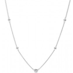 Collar Fossil Mujer Sterling Silver JFS00453040