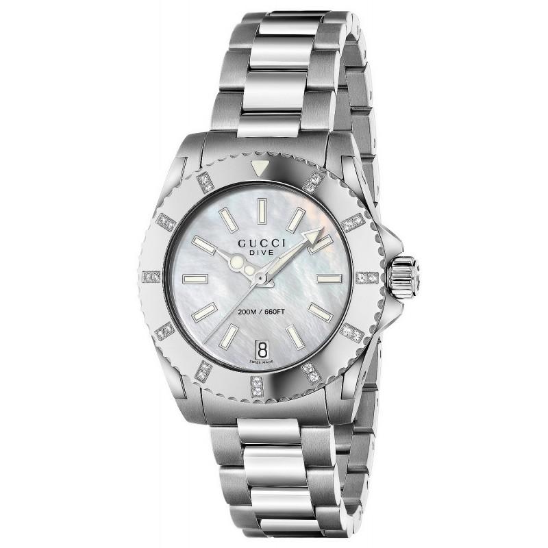 37411b87f98 Reloj Gucci Mujer Dive Medium YA136405 Quartz - Joyería de Moda