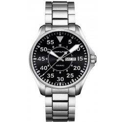 Reloj Hamilton Hombre Khaki Aviation Pilot Day Date Quartz H64611135