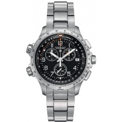Reloj Hamilton Hombre Khaki Aviation X-Wind GMT Chrono Quartz H77912135