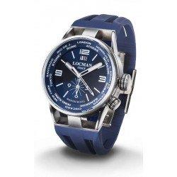 Reloj Locman Hombre Montecristo World Dual Time Quartz 0508A02S-00BLWHSB