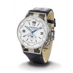 Reloj Locman Hombre Montecristo World Dual Time Quartz 0508A08S-00WHBKPB