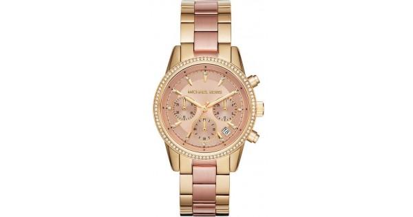 Reloj Michael Kors Mujer Ritz Mk6475 Cron 243 Grafo Joyer 237 A