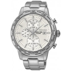 Reloj Seiko Hombre SPL047P1 World Time Cronógrafo Alarm Quartz
