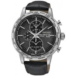 Reloj Seiko Hombre SPL049P2 World Time Cronógrafo Alarm Quartz