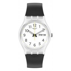 Reloj Swatch Unisex Gent Rinse Repeat Black GE726