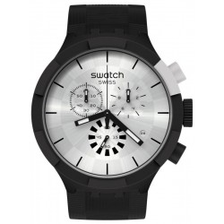Reloj Swatch Big Bold Chrono Chequered Silver SB02B404