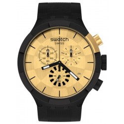 Reloj Swatch Big Bold Chrono Checkpoint Golden SB02Z400