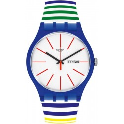 Reloj Swatch Unisex New Gent Home Stripe Home SUON715