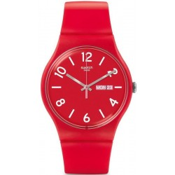 Reloj Swatch Unisex New Gent Backup Red SUOR705