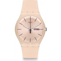 Reloj Swatch Mujer New Gent Rose Rebel SUOT700