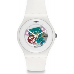 Reloj Swatch Unisex New Gent White Lacquered SUOW100
