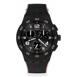 Reloj Swatch Hombre Chrono Plastic Black Cord SUSB106