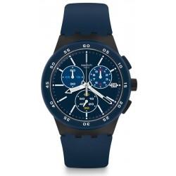 Reloj Swatch Hombre Chrono Plastic Blue Steward SUSB417