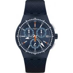 Comprar Reloj Swatch Hombre Chrono Plastic Gara In Blu SUSN410