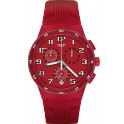 Reloj Swatch Unisex Chrono Plastic Red Step SUSR404