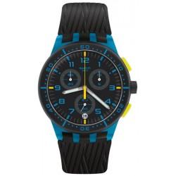 Reloj Swatch Unisex Chrono Plastic Blue Tire SUSS402