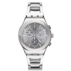 Reloj Swatch Mujer Irony Chrono Silverli YCS112G