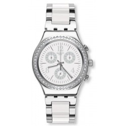 Reloj Swatch Unisex Irony Chrono Made In White YCS119G