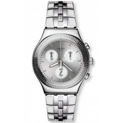Reloj Swatch Mujer Irony Chrono Crystal Cascade YCS580G