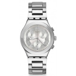 Reloj Swatch Unisex Irony Chrono Silver Ring YCS604G