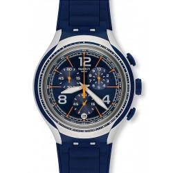 Reloj Swatch Hombre Irony Xlite Blue Face YYS4015 Cronógrafo