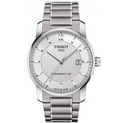 Reloj Hombre Tissot T-Classic Powermatic 80 Titanium T0874074403700